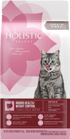★國際貓家★Holistic Select 活力滋天然糧 - 無穀室內貓/體重控制配方(肥胖貓咪推薦)2LB