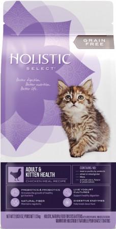 ★國際貓家★Holistic Select 活力滋天然糧 - 無穀雞肉配方(成幼貓推薦)2.5LB/5LB/11.5LB