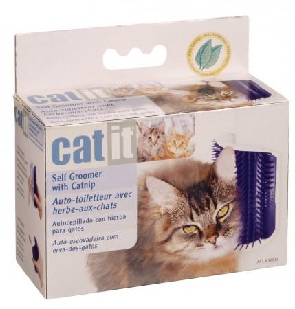 ☆國際貓家☆加拿大Hagen赫根-Catit貓咪不求人毛梳牆角按摩梳(附貓薄荷)