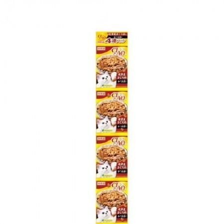 日本CIAO 貓咪串包餅乾-燒津產(金槍魚+乾鰹魚節)