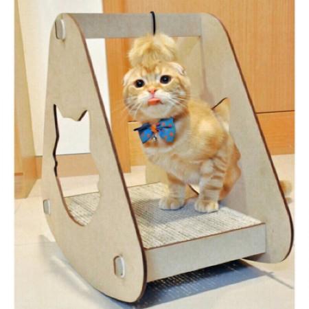★國際貓家★鮮抓感-御飯糰抓板-貓型