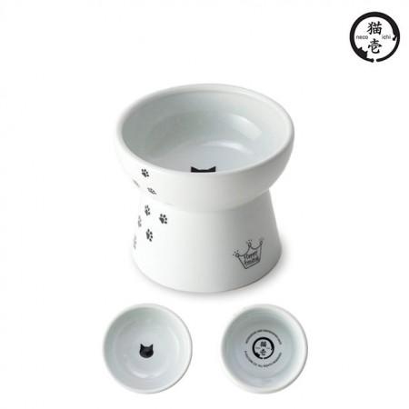 ★國際貓家★貓壹-快樂食光高腳食碗 L號