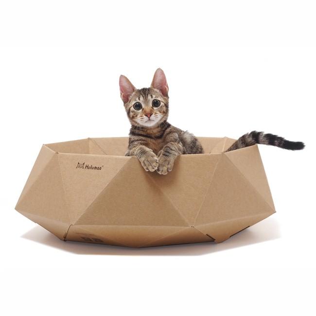 ☆國際貓家☆Hulumao Diamond Bed 呼嚕貓 鑽石床(內附抓板)