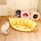 ★國際貓家★半月款折疊貓隧道窩-綿羊羊/喵吉吉