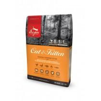 ☆國際貓家超優惠組合,現省NT400,加拿大進口高肉類含量頂級貓食☆Orijen_渴望愛貓1kg+BOXCAT紅標無塵貓沙11L