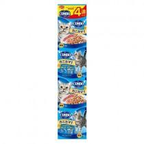 日本 COMBO 貓咪串包-(蟹肉+小魚)-160G