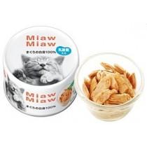 ☆國際貓家,切片鮪魚讓您貓咪愛吃到不行☆日本愛喜雅妙喵MiawMiaw貓罐70G