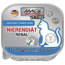 ★國際貓家★德國 MAC's 馬克 處方主食貓餐盒-腎臟保健(鮭魚+雞肉) 100g