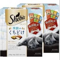 {國際貓家,原裝日本} 冬季限定 Sheba DUO夾心餡餅豪華海陸綜合口味-12袋 240g