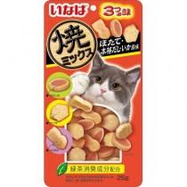 ★國際貓家★ INABA 3種造型燒夾心餅乾-25G