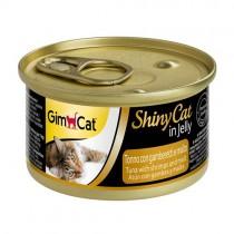 ☆國際貓家☆ GimCat 竣寶化毛貓罐70g-鮪魚+鮮蝦+麥芽