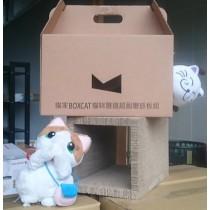 ☆國際貓家2015新品,加大+好玩+超耐用☆貓家BOXCAT抓板隧道玩樂組