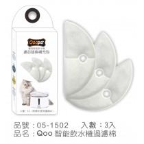 ☆國際貓家☆Qoo寵物智能飲水機替換過濾棉-3入
